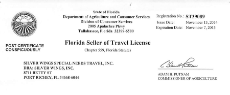 Silver Wings Is Licensed To Sell Travel